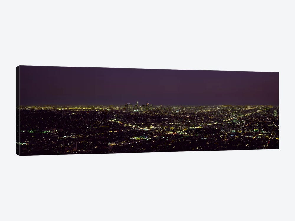 High angle view of a cityscape, Los Angeles, California, USA 1-piece Canvas Print