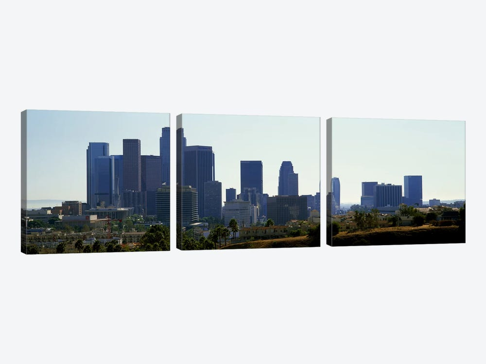 Skyscrapers in a city, Los Angeles, California, USA 2009 by Panoramic Images 3-piece Canvas Art