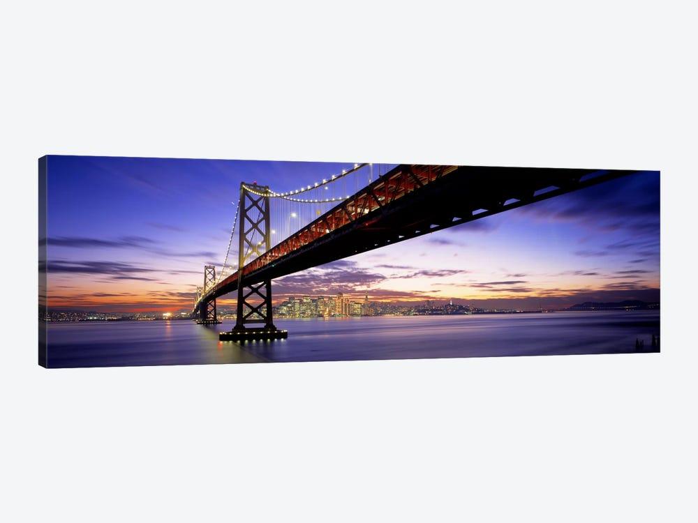Twilight, Bay Bridge, San Francisco, California, USA by Panoramic Images 1-piece Canvas Wall Art