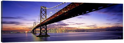 Twilight, Bay Bridge, San Francisco, California, USA Canvas Print #PIM876
