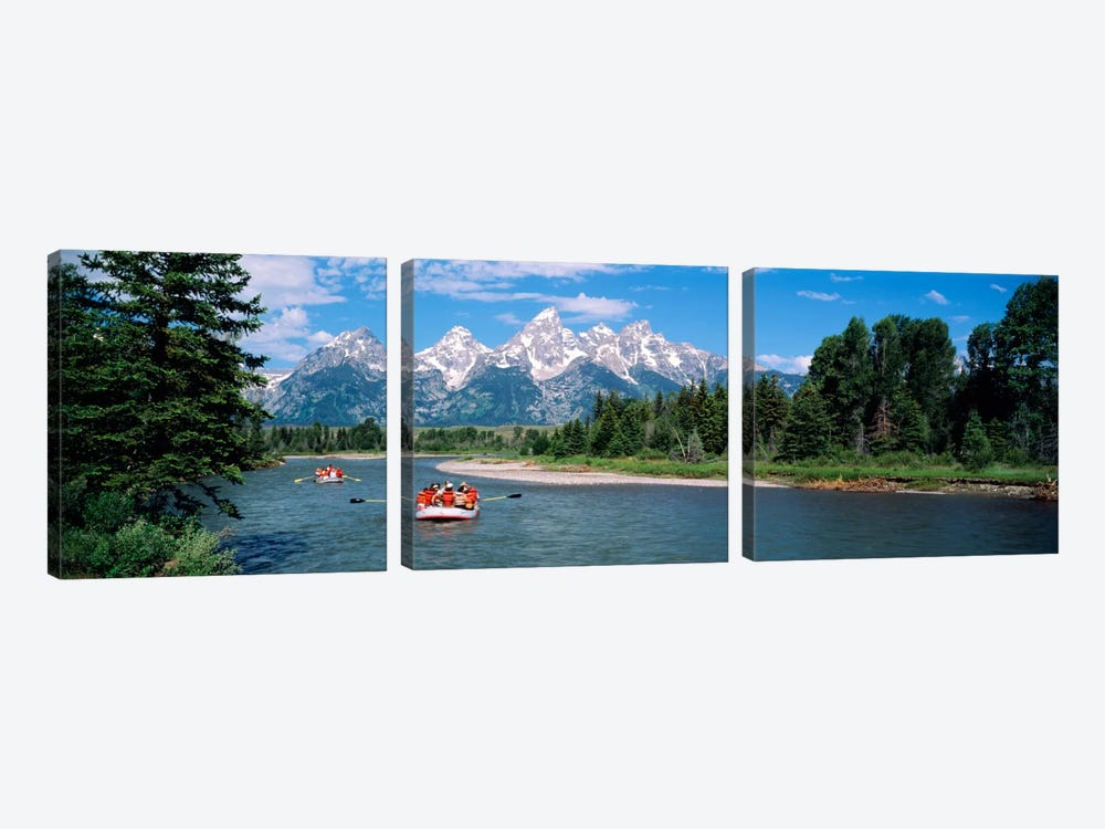 Rafters Grand Teton National Park WY USA by Panoramic Images 3-piece Canvas Wall Art