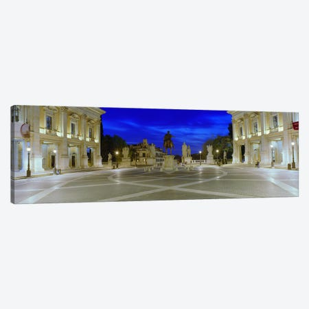 Marcus Aurelius Statue at a town square, Piazza del Campidoglio, Capitoline Hill, Rome, Italy Canvas Print #PIM8797} by Panoramic Images Canvas Art