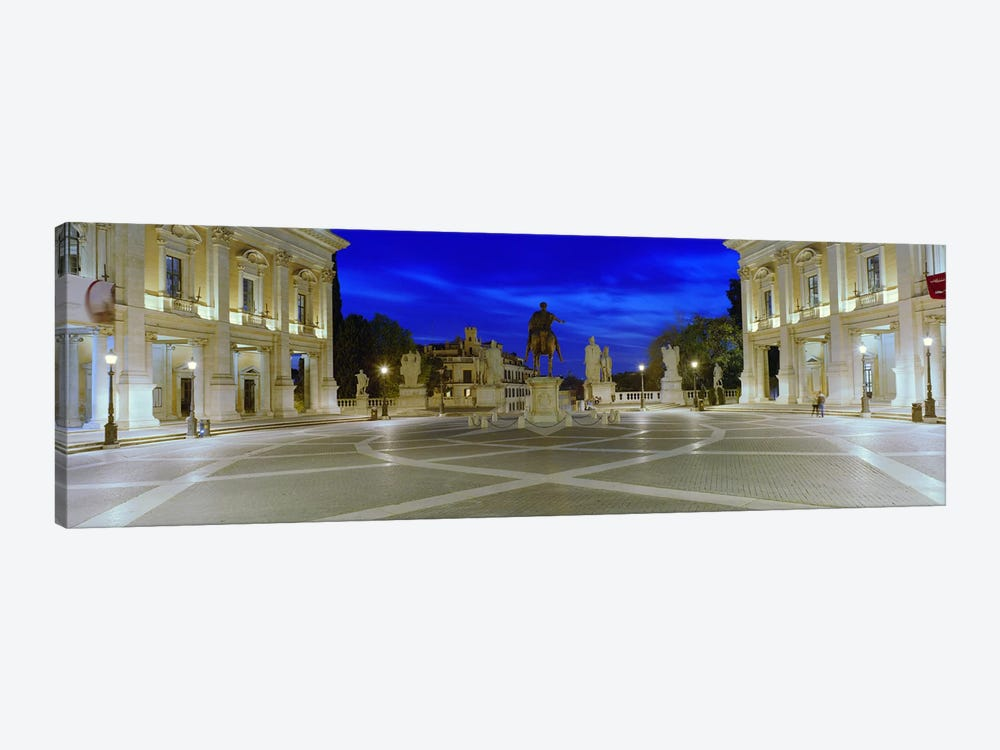 Marcus Aurelius Statue at a town square, Piazza del Campidoglio, Capitoline Hill, Rome, Italy by Panoramic Images 1-piece Canvas Art