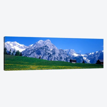 Alpine Pasture Landscape, Karwendel, Northern Limestone Alps, Tyrol, Austria Canvas Print #PIM87} by Panoramic Images Canvas Print
