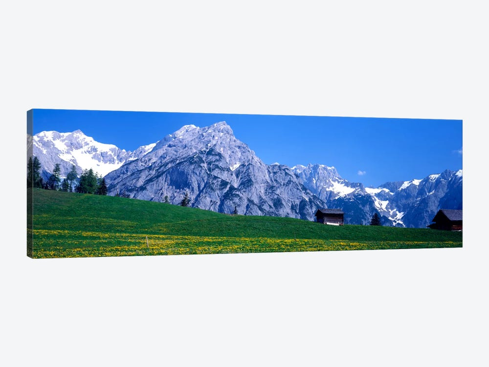Alpine Pasture Landscape, Karwendel, Northern Limestone Alps, Tyrol, Austria by Panoramic Images 1-piece Canvas Art Print