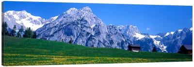 Alpine Pasture Landscape, Karwendel, Northern Limestone Alps, Tyrol, Austria Canvas Art Print