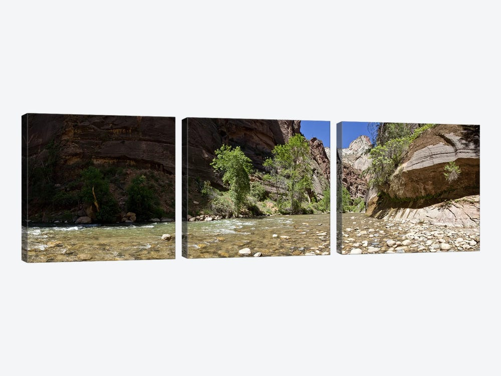 North Fork of the Virgin River, Zion National Park, Washington County, Utah, USA by Panoramic Images 3-piece Canvas Print