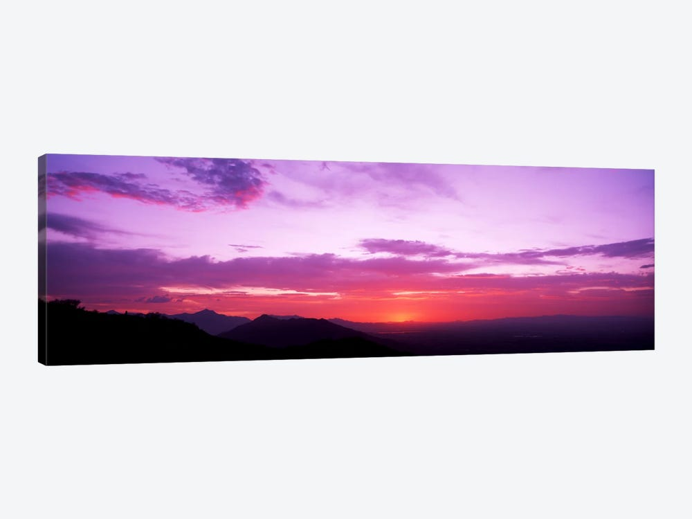 Clouds over mountains, Sierra Estrella Mountains, Phoenix, Arizona, USA by Panoramic Images 1-piece Canvas Art Print