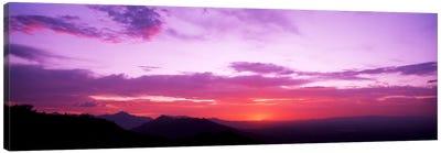 Clouds over mountains, Sierra Estrella Mountains, Phoenix, Arizona, USA Canvas Art Print