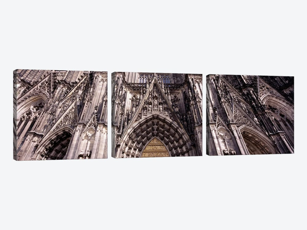 Architectural detail of a cathedralCologne Cathedral, Cologne, North Rhine Westphalia, Germany by Panoramic Images 3-piece Canvas Art