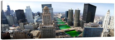 St. Patrick's Day Chicago IL USA by Panoramic Images Canvas Art
