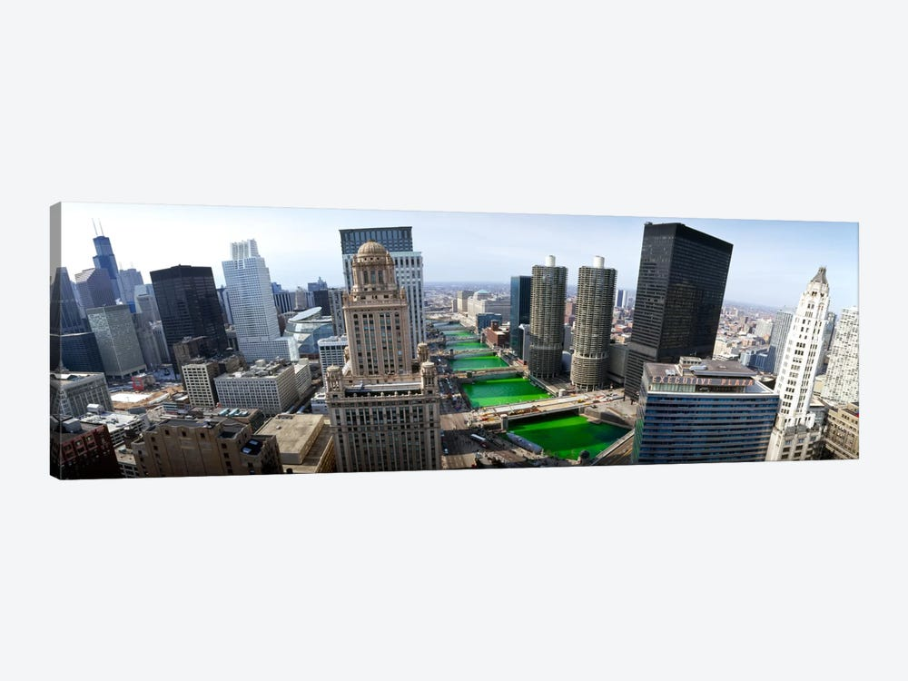 St. Patrick's Day Chicago IL USA by Panoramic Images 1-piece Canvas Wall Art