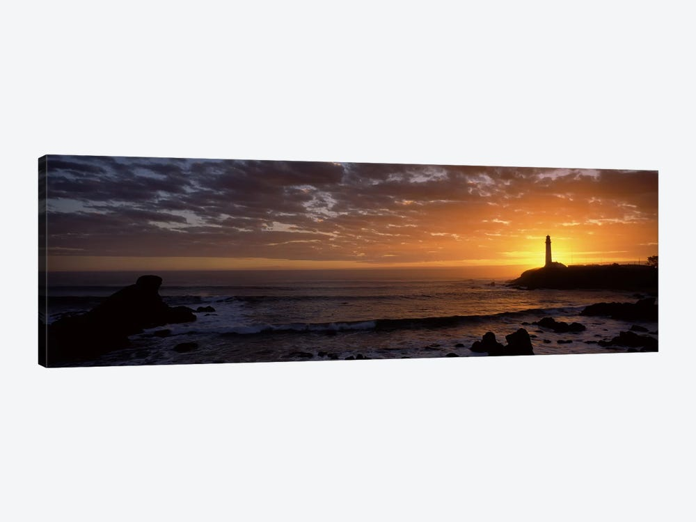 Lighthouse at sunset, Pigeon Point Lighthouse, San Mateo County, California, USA 1-piece Canvas Artwork