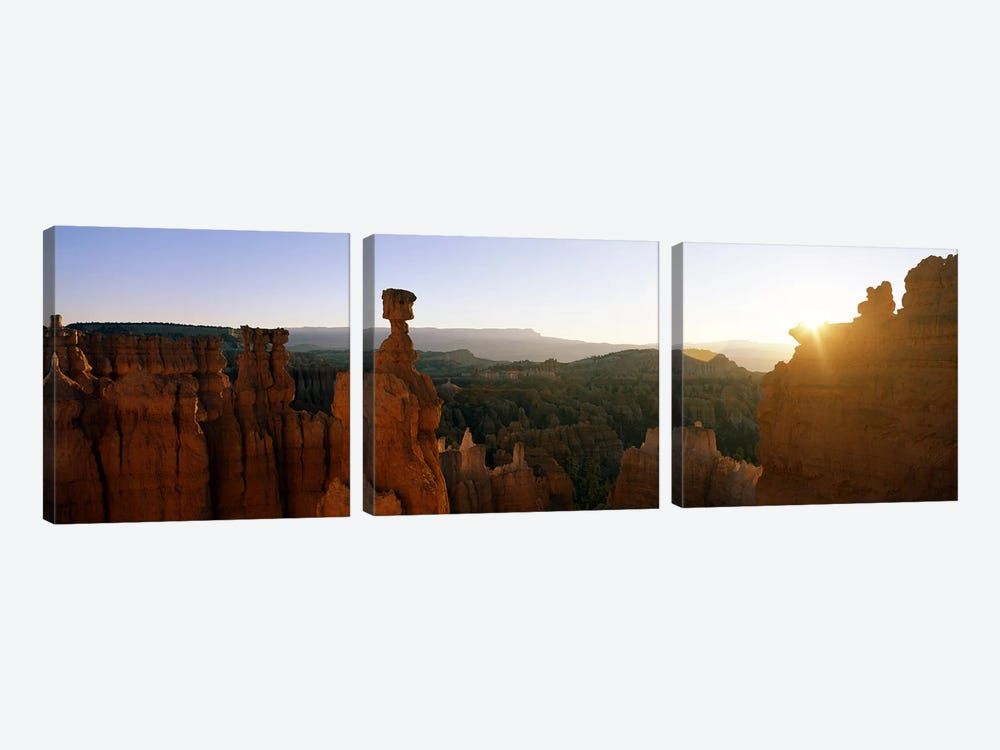 Thor's Hammer, Bryce Canyon National Park, Utah, USA by Panoramic Images 3-piece Canvas Artwork
