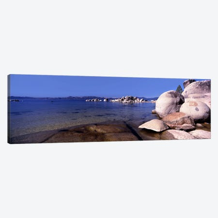 Boulders at the coast, Lake Tahoe, California, USA Canvas Print #PIM8847} by Panoramic Images Canvas Wall Art