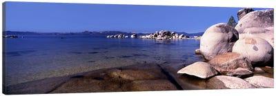Boulders at the coast, Lake Tahoe, California, USA Canvas Print #PIM8847