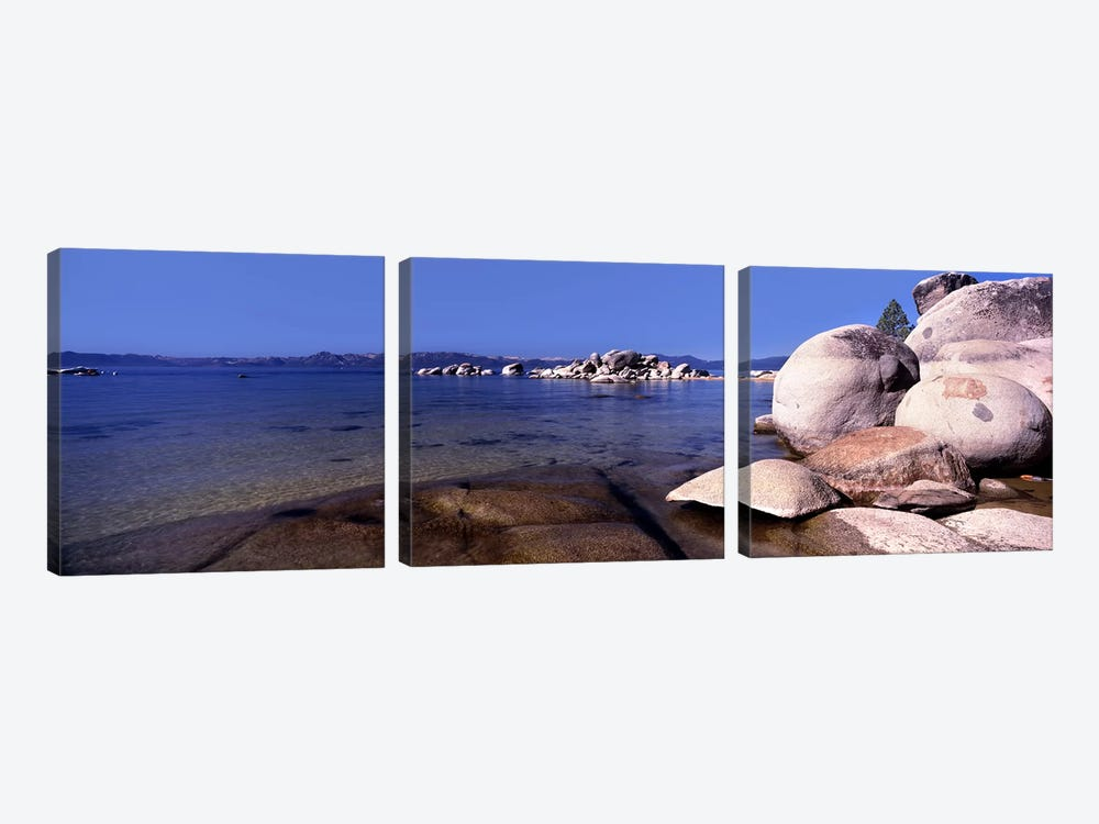 Boulders at the coast, Lake Tahoe, California, USA by Panoramic Images 3-piece Art Print