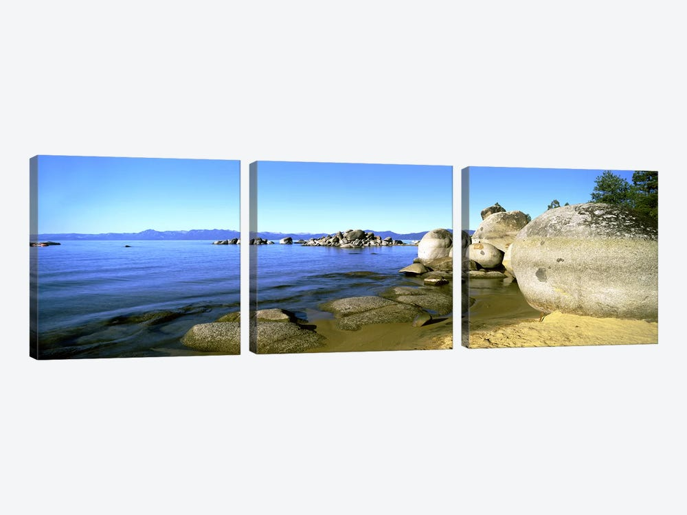Boulder Piles, Lake Tahoe, California, USA by Panoramic Images 3-piece Canvas Wall Art