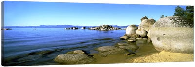 Boulder Piles, Lake Tahoe, California, USA Canvas Art Print