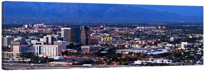 Aerial view of a city, Tucson, Pima County, Arizona, USA 2010 Canvas Art Print