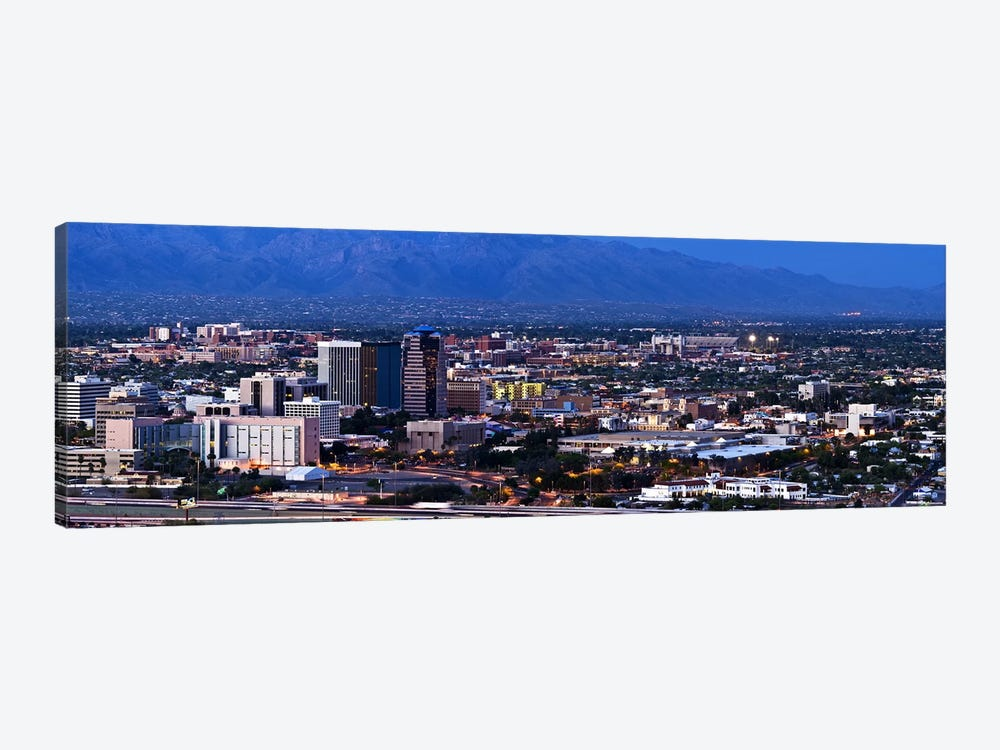 Aerial view of a city, Tucson, Pima County, Arizona, USA 2010 by Panoramic Images 1-piece Art Print