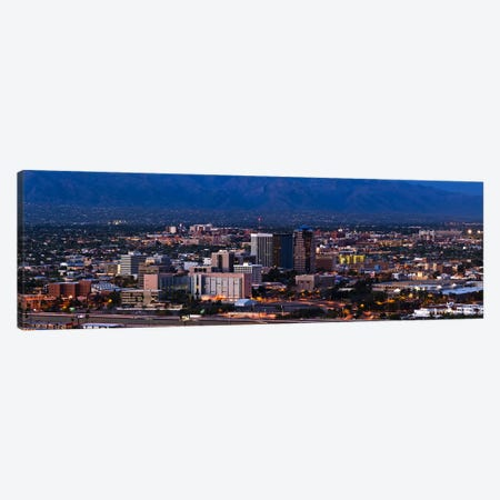 Aerial view of a city, Tucson, Pima County, Arizona, USA 2010 #2 Canvas Print #PIM8851} by Panoramic Images Canvas Artwork