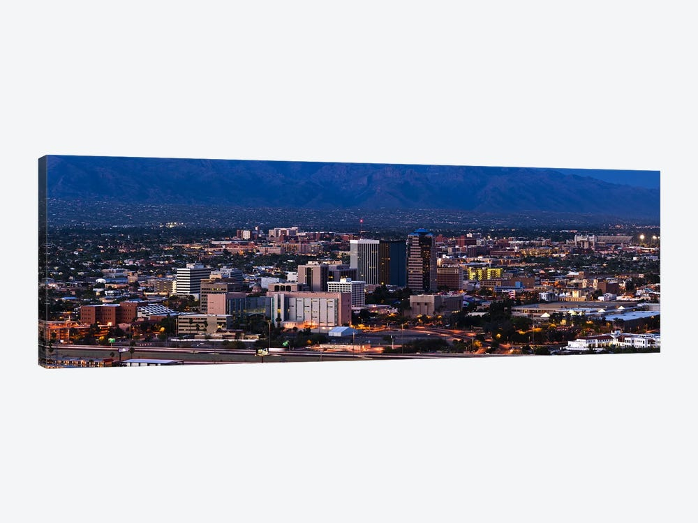Aerial view of a city, Tucson, Pima County, Arizona, USA 2010 #2 by Panoramic Images 1-piece Canvas Art