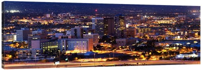 City lit up at night, Tucson, Pima County, Arizona, USA Canvas Art Print