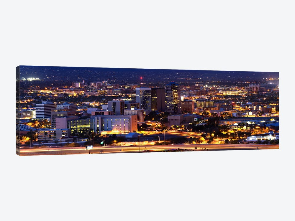 City lit up at night, Tucson, Pima County, Arizona, USA by Panoramic Images 1-piece Canvas Art Print