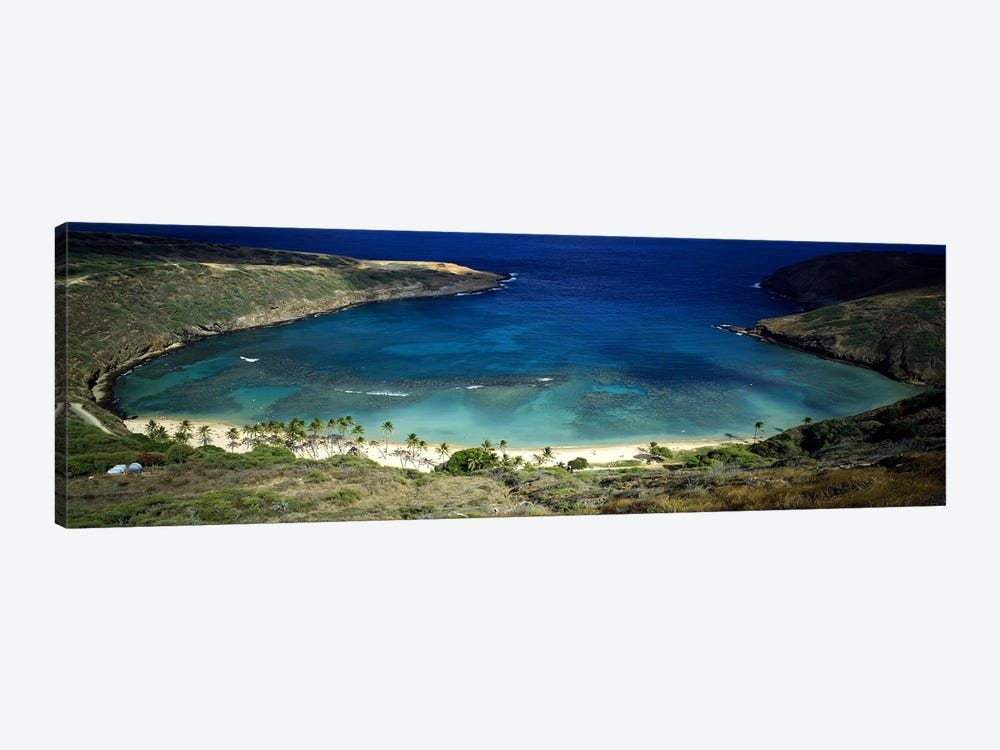 High angle view of a coast, Hanauma Bay, Oahu, Honolulu County, Hawaii, USA by Panoramic Images 1-piece Art Print