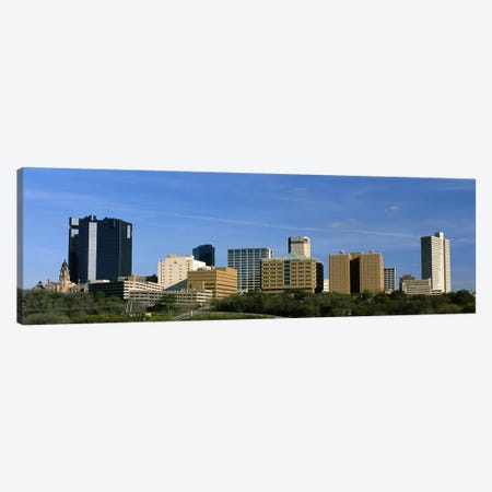 Buildings in a city, Fort Worth, Texas, USA #2 Canvas Print #PIM8857} by Panoramic Images Canvas Print