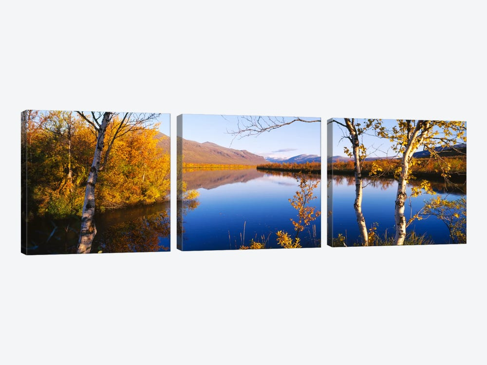 Autumn Landscape, Vistas Valley, Lappland, Sweden by Panoramic Images 3-piece Canvas Artwork