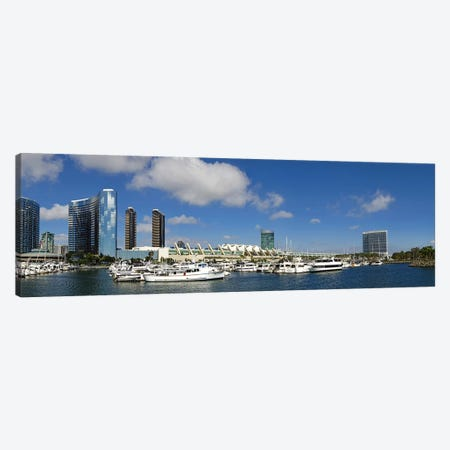 Buildings in a city, San Diego Convention Center, San Diego, Marina District, San Diego County, California, USA Canvas Print #PIM8862} by Panoramic Images Canvas Art Print