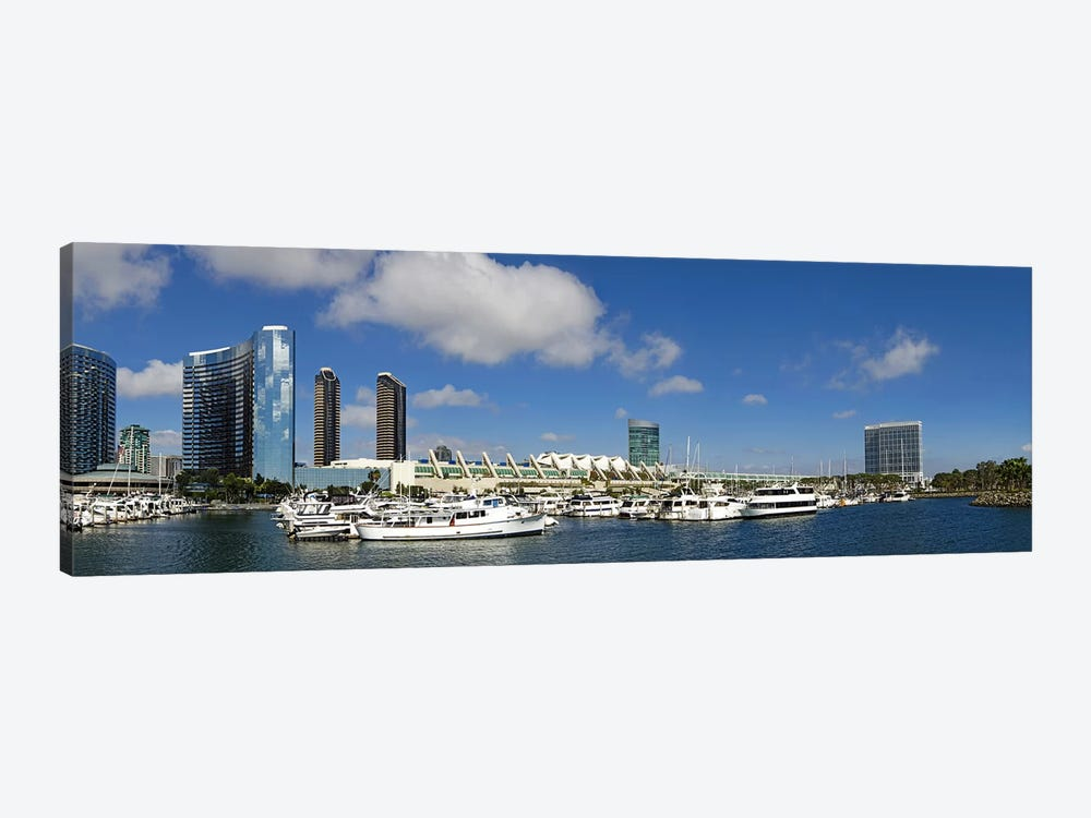 Buildings in a city, San Diego Convention Center, San Diego, Marina District, San Diego County, California, USA by Panoramic Images 1-piece Canvas Wall Art