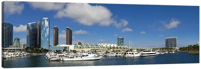 Buildings in a city, San Diego Convention Center, San Diego, Marina District, San Diego County, California, USA Canvas Art Print