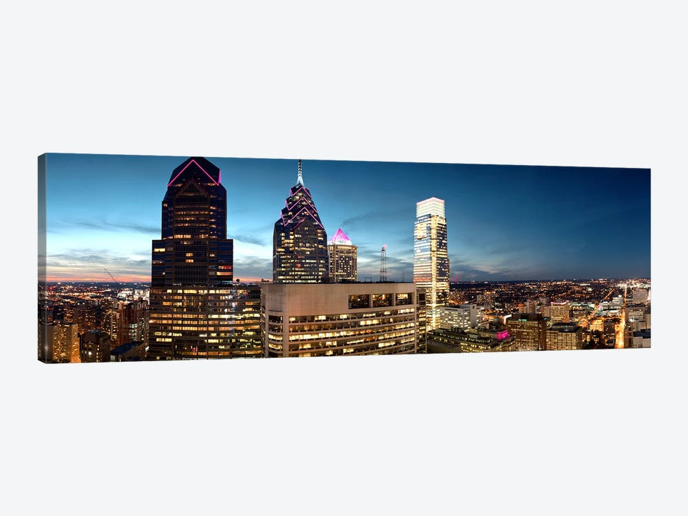 Skyscrapers in a city, Philadelphia, Pennsylvania, USA #7 by Panoramic Images 1-piece Art Print