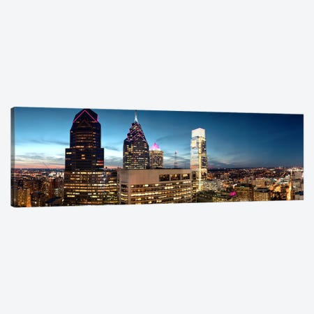 Skyscrapers in a city, Philadelphia, Pennsylvania, USA #7 Canvas Print #PIM8874} by Panoramic Images Art Print
