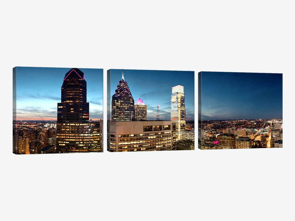 Skyscrapers in a city, Philadelphia, Pennsylvania, USA #7 by Panoramic Images 3-piece Art Print
