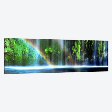 Double Rainbow, Mossbrae Falls, Dunsmuir, Siskiyou County, California, USA Canvas Print #PIM8877} by Panoramic Images Art Print