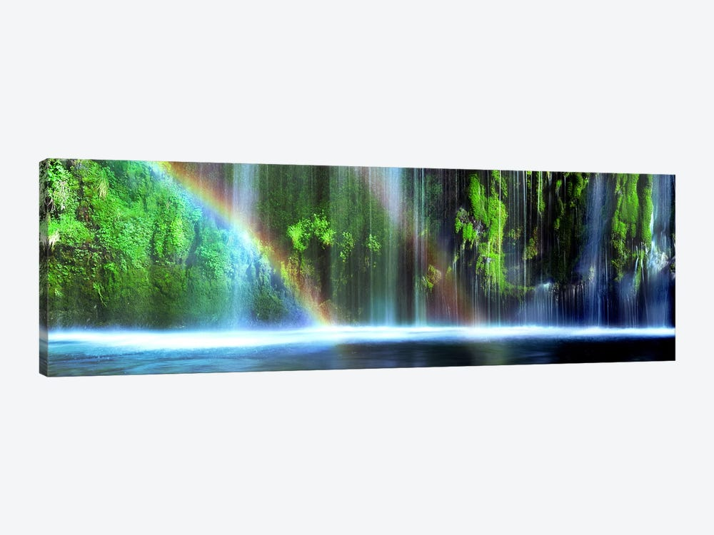 Double Rainbow, Mossbrae Falls, Dunsmuir, Siskiyou County, California, USA by Panoramic Images 1-piece Canvas Wall Art