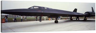 Lockheed SR-71 Blackbird on a runway Canvas Print #PIM8879