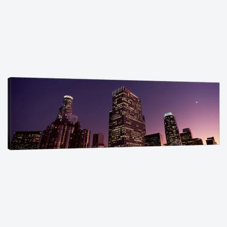 Skyscrapers in a city, City of Los Angeles, California, USA 2010 Canvas Print #PIM8880} by Panoramic Images Canvas Art Print