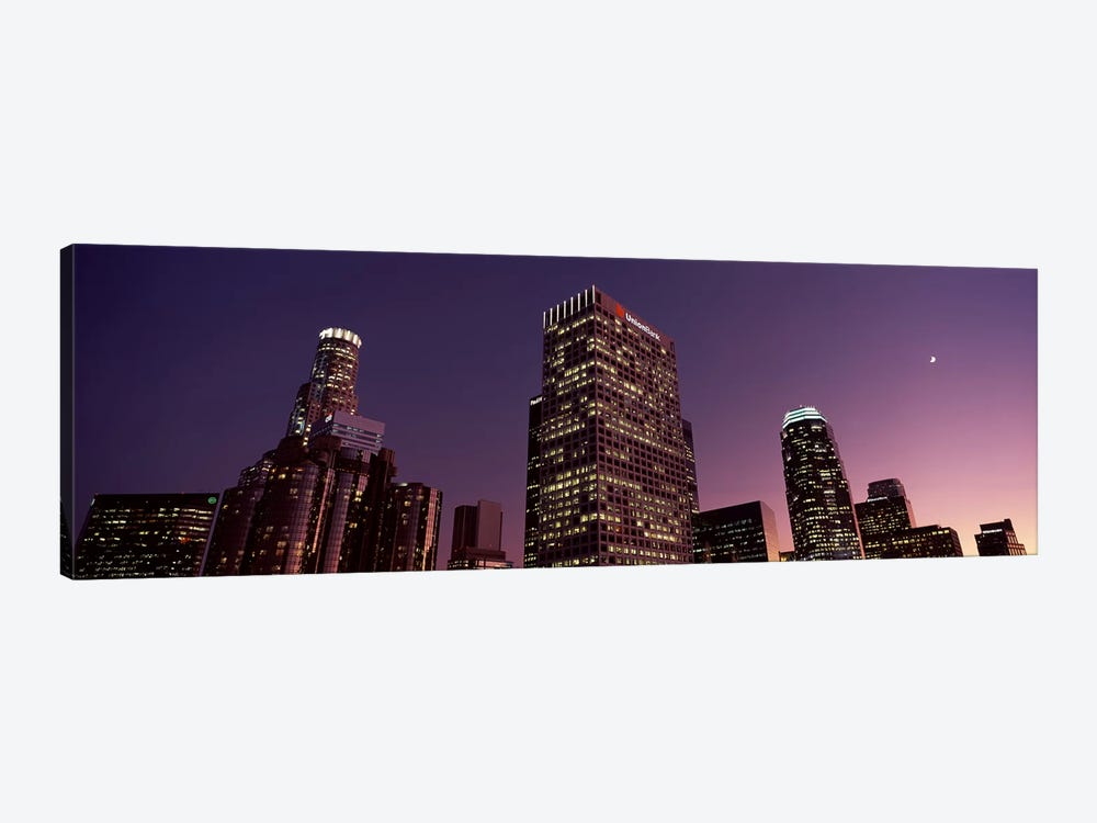 Skyscrapers in a city, City of Los Angeles, California, USA 2010 by Panoramic Images 1-piece Canvas Wall Art