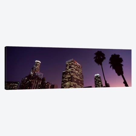 Skyscrapers in a city, City of Los Angeles, California, USA 2010 #2 Canvas Print #PIM8881} by Panoramic Images Canvas Art Print