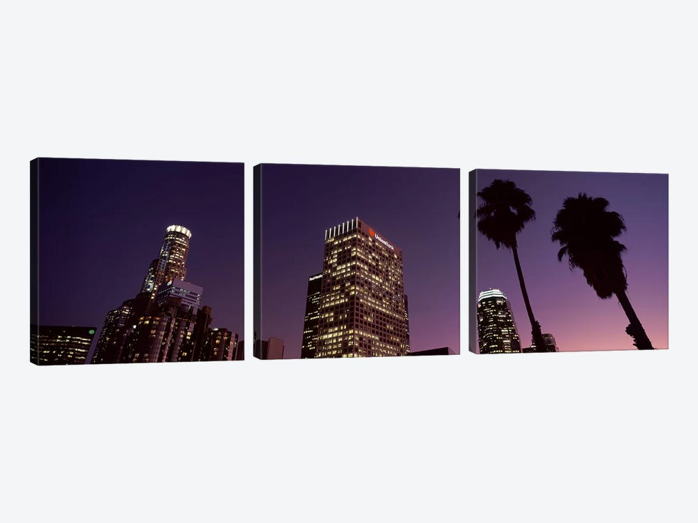 Skyscrapers in a city, City of Los Angeles, California, USA 2010 #2 by Panoramic Images 3-piece Art Print