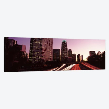 Skyscrapers in a city, City of Los Angeles, California, USA 2010 #3 3-Piece Canvas #PIM8882} by Panoramic Images Canvas Art Print