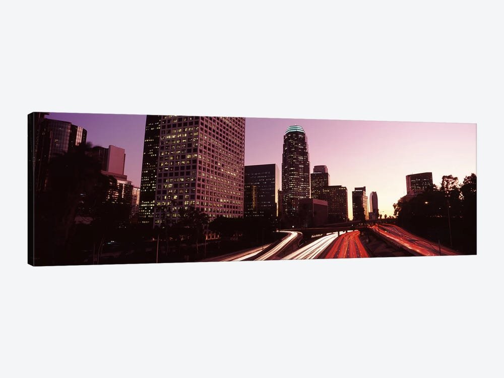 Skyscrapers in a city, City of Los Angeles, California, USA 2010 #3 by Panoramic Images 1-piece Canvas Wall Art