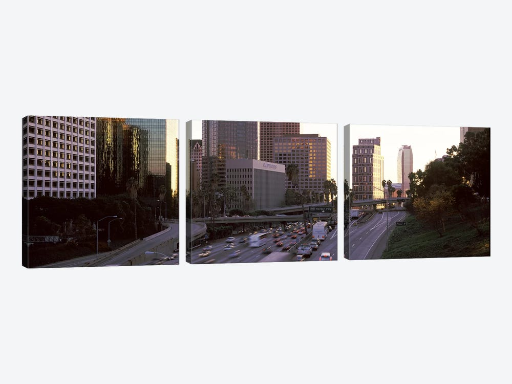 Buildings in a city, City of Los Angeles, California, USA by Panoramic Images 3-piece Canvas Art Print