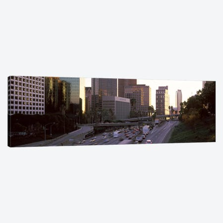 Buildings in a city, City of Los Angeles, California, USA 3-Piece Canvas #PIM8883} by Panoramic Images Art Print