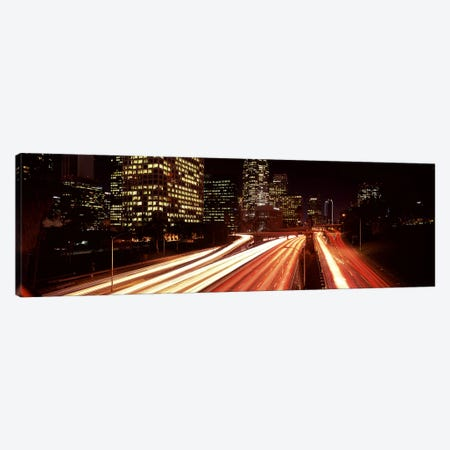 Skyscrapers in a city, City of Los Angeles, California, USA 2010 #4 Canvas Print #PIM8884} by Panoramic Images Canvas Art